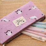 Cats Canvas Pencil Case