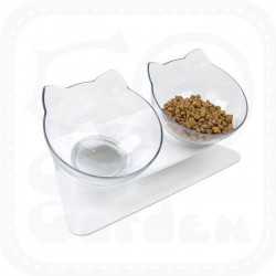 Cat Twin Dining Bowl with Stand